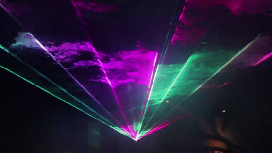 Outdoor Laser Show in Gainesville by United laser