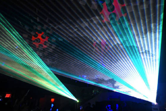 High power lasers and inflatable decorations by United Laser