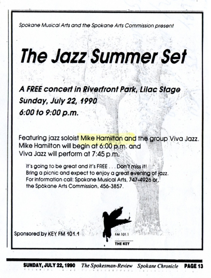 Mike Hamilton and Viva Jazz • Concert Ad