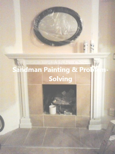 Custom Designed Fireplace, Mantel, Accents and Tilework
