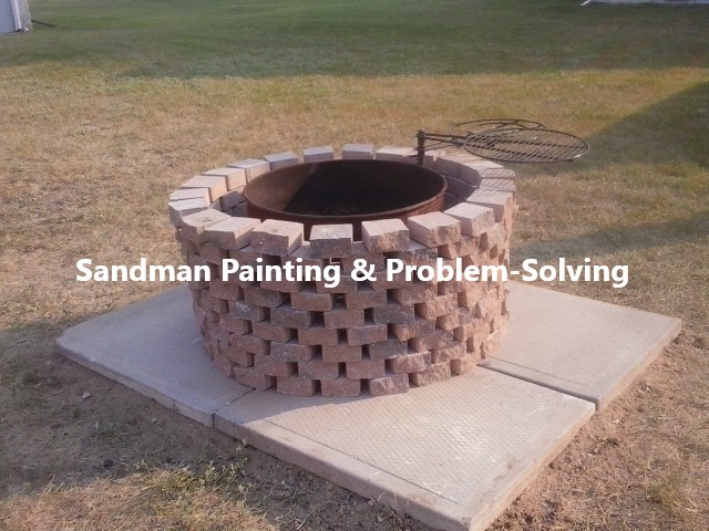 Custom Brick Fire Pit With Built-in Grill