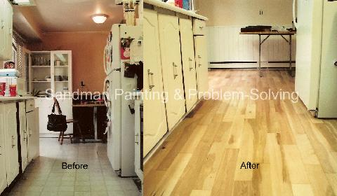 Before & After Kitchen Floor Upgrade