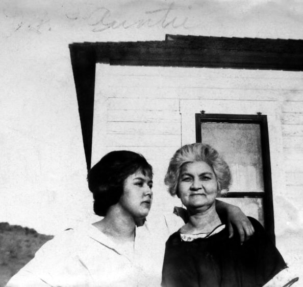 Mildred Hoover with her mother Louisa Ward Hoover