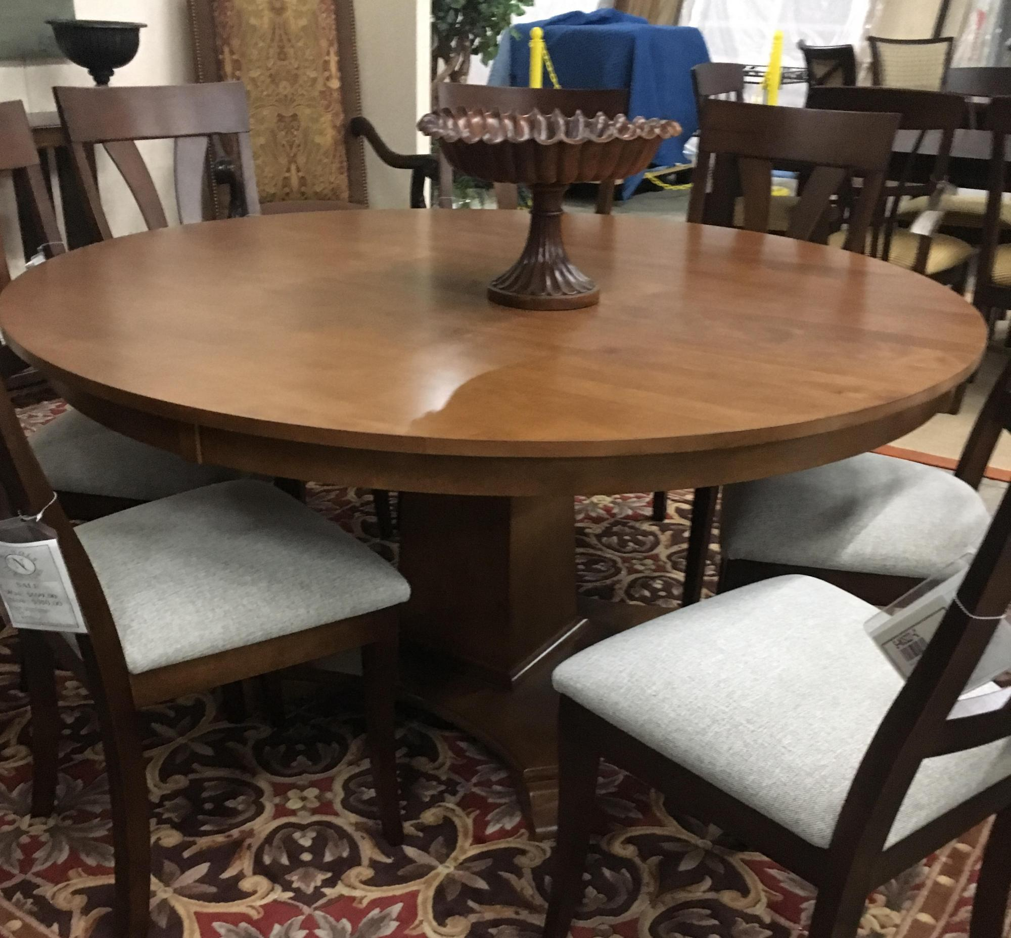 "60"" Solid maple pedestal table only"