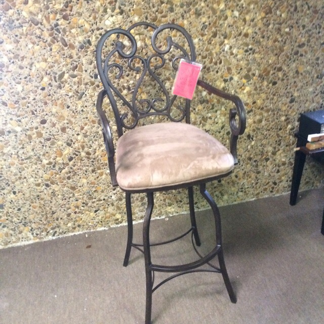 Iron bar stool (have two)