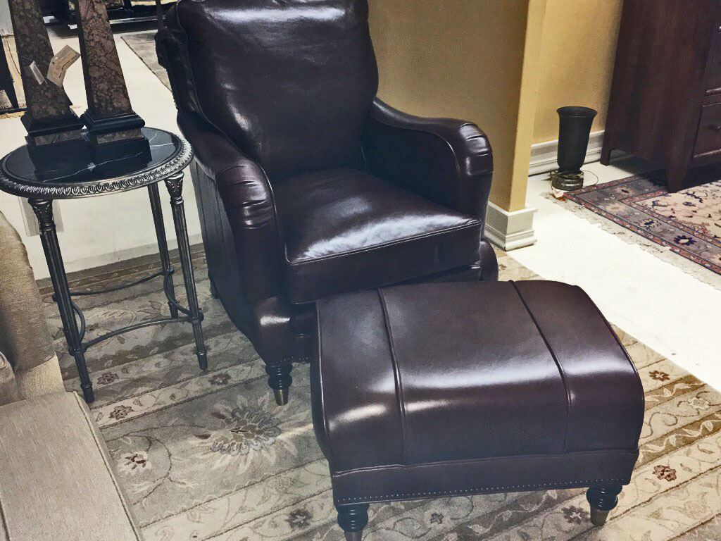 Another example of our most comfortable chair & ottoman