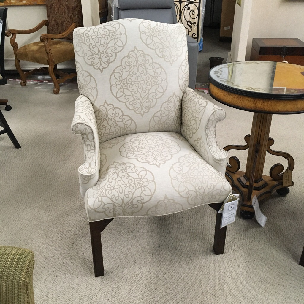 Ivory Medallion Occasional chair made in North Carolina