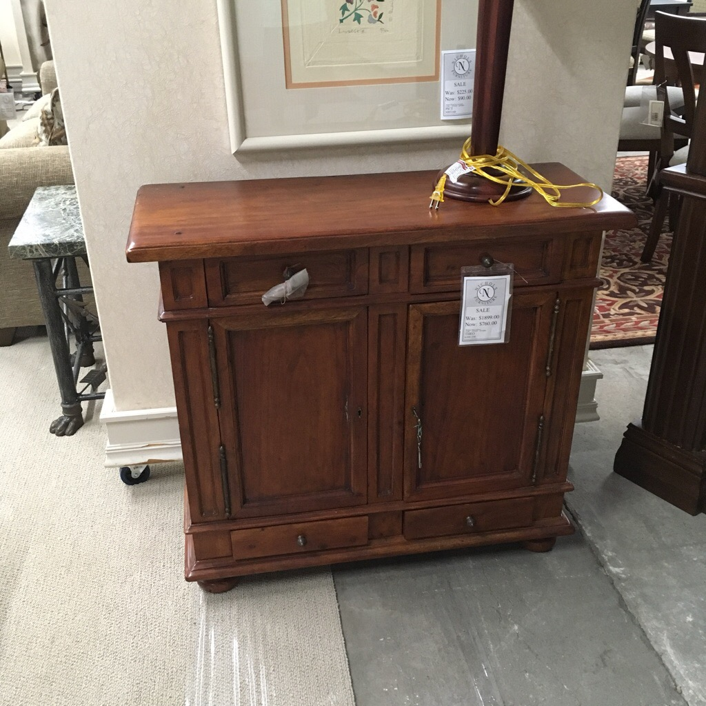 Solid english walnut reproduction chest with doors