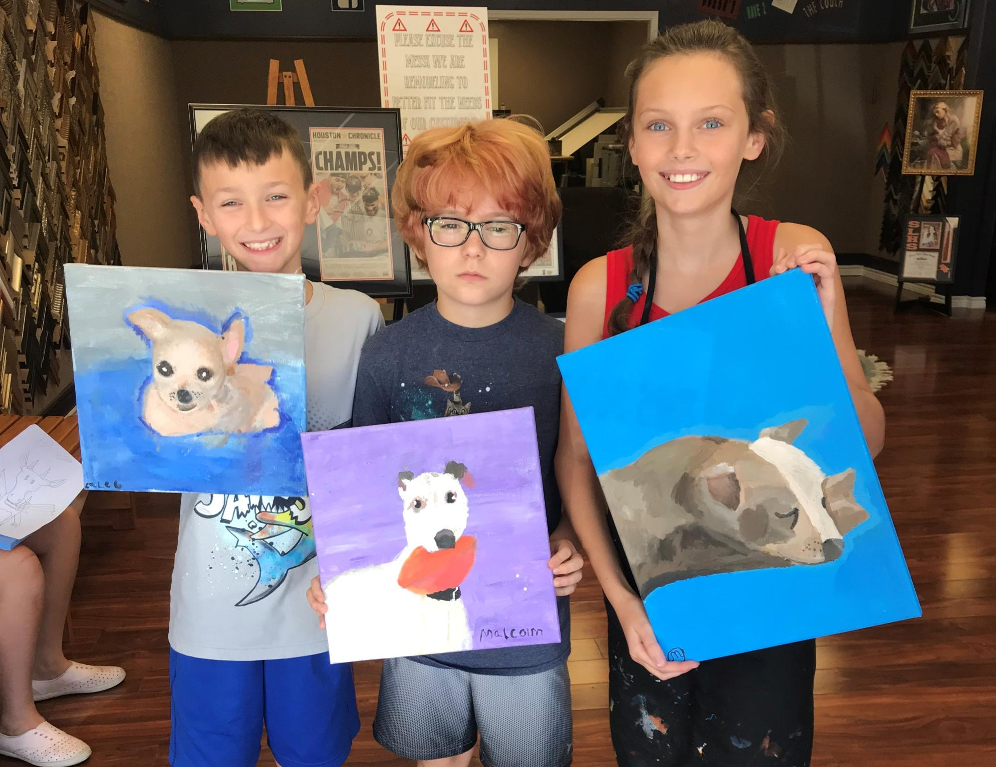 Paint Your Pet Session 1 Summer Camp