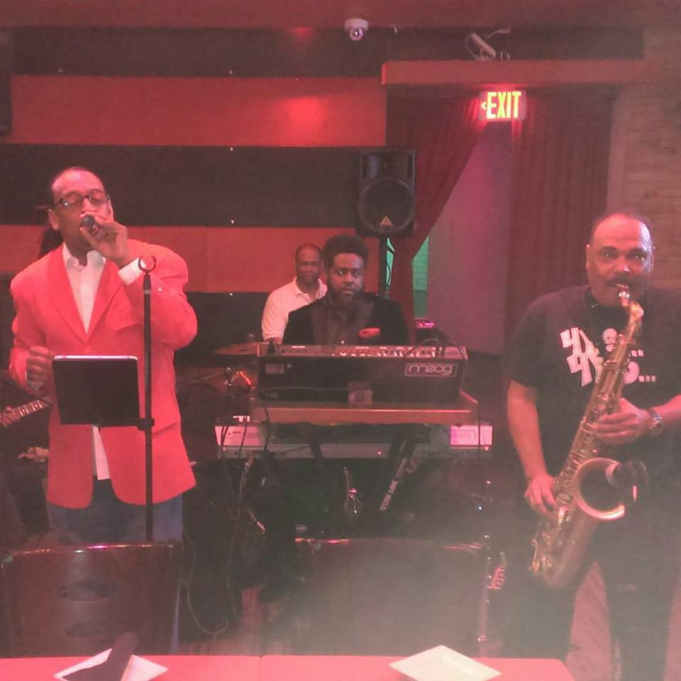 Wayne and Myke at  Dolce Lounge with Scott Jordan and Chops Horns' Dave Watson (Alicia Keys)