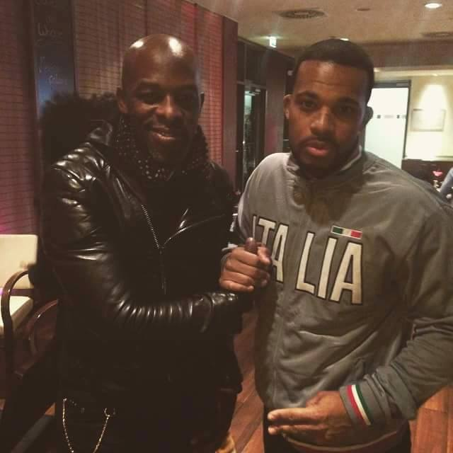 Kenny Black with R&B superstar singer Joe