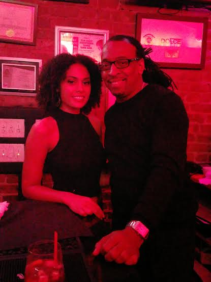 Wayne with model Briana Cortesiano at Dolce's Lounge