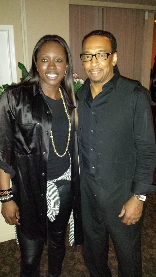 Wayne with WNBA and L.A. Sparks star guard/forward Essence Carson