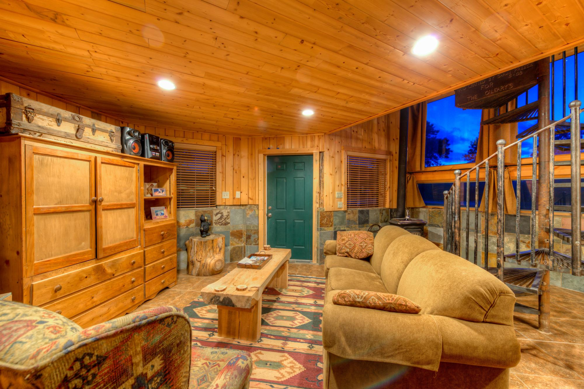 Living area at Cabin