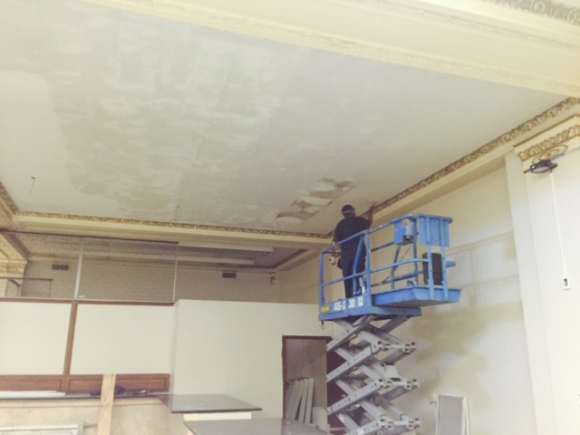 Install new ceiling & LED fixtures