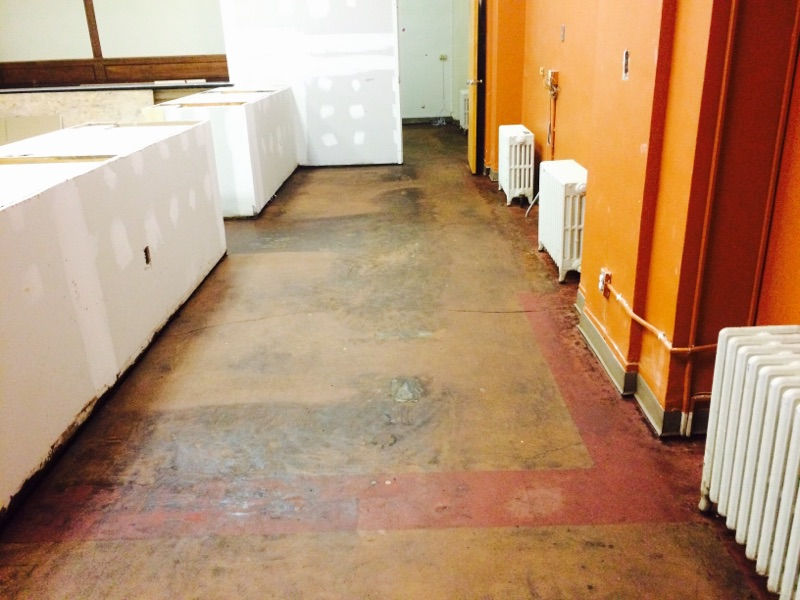 Removal of asbestos floor tile & mastic