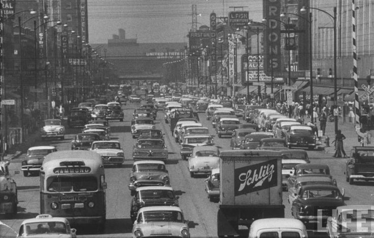 Downtown Gary IN during the 1950's