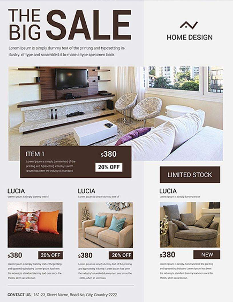 FLYER IDEA - Home Design Big Sale