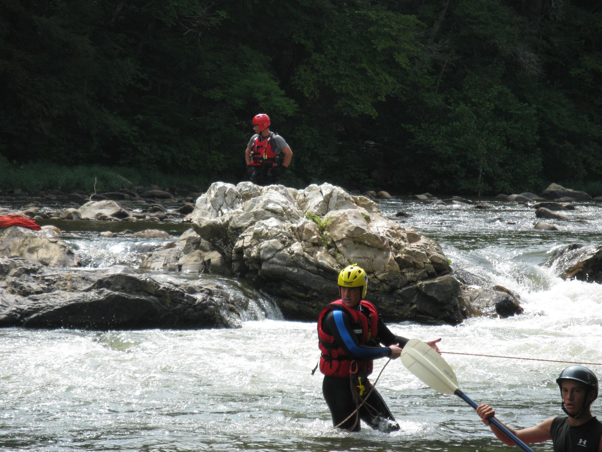 Some members particiapted in a swift water training.