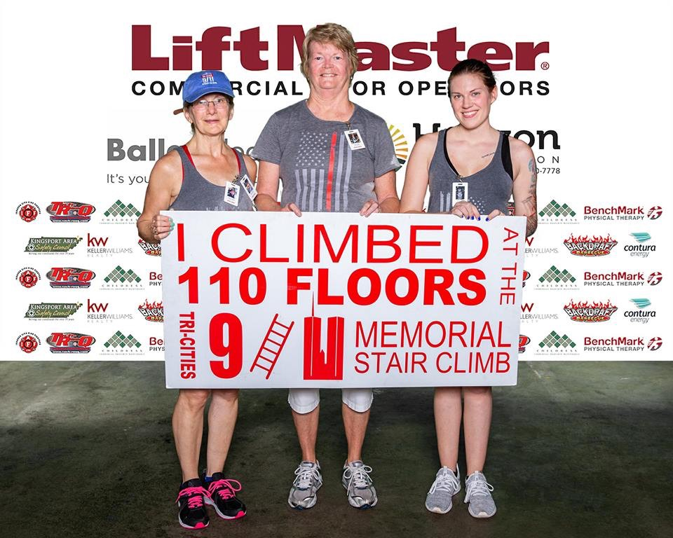 Two of our Crewettes participated in the 9/11 Memorial Stair Climb.