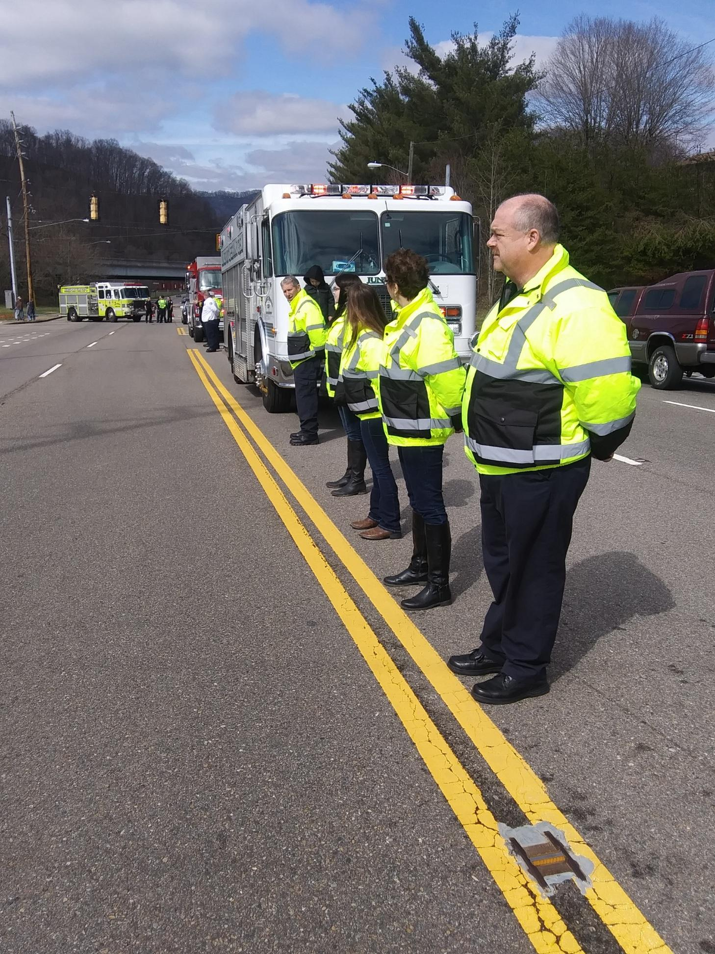 Several of our members stood by to pay our respects to Sgt. Steve Hinkle of the Sullivan County Sherrifs Department. RIP Sgt. Steve Hinkle.