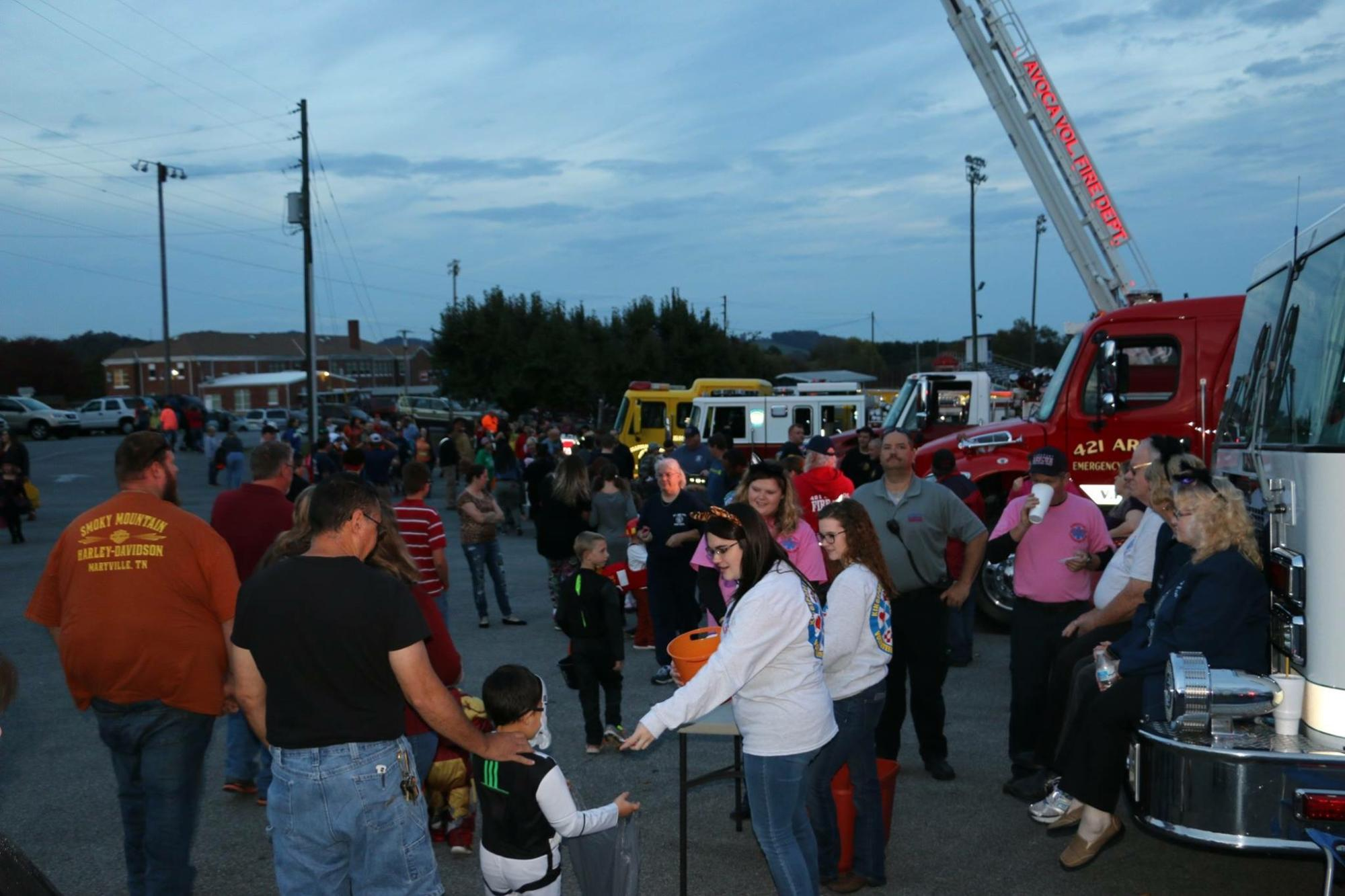 There was a great crowd for the Trunk-or-Treat.