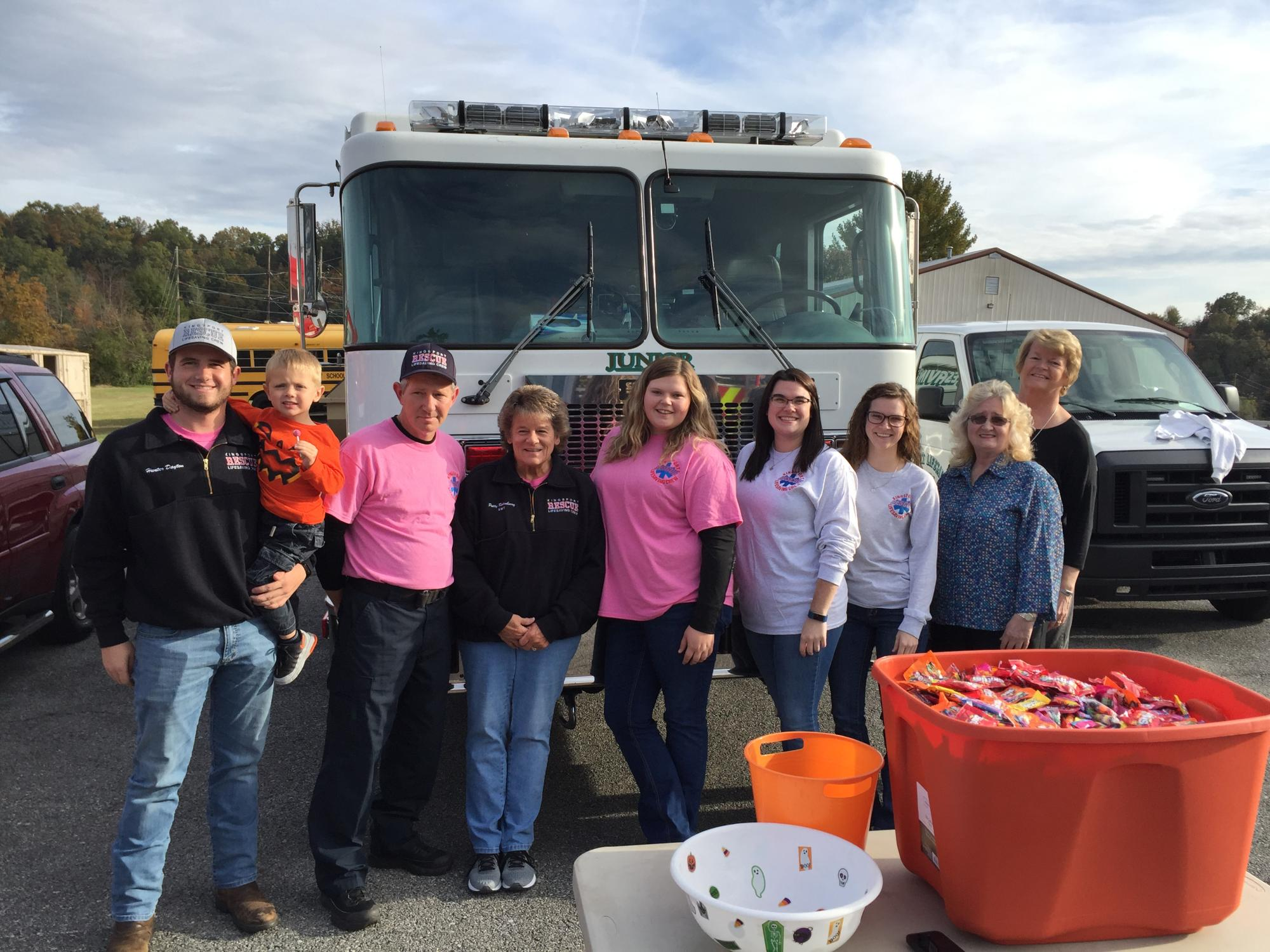We appreciated getting invited to Sullivan County Sherrifs Departments Trunk-or-Treat.