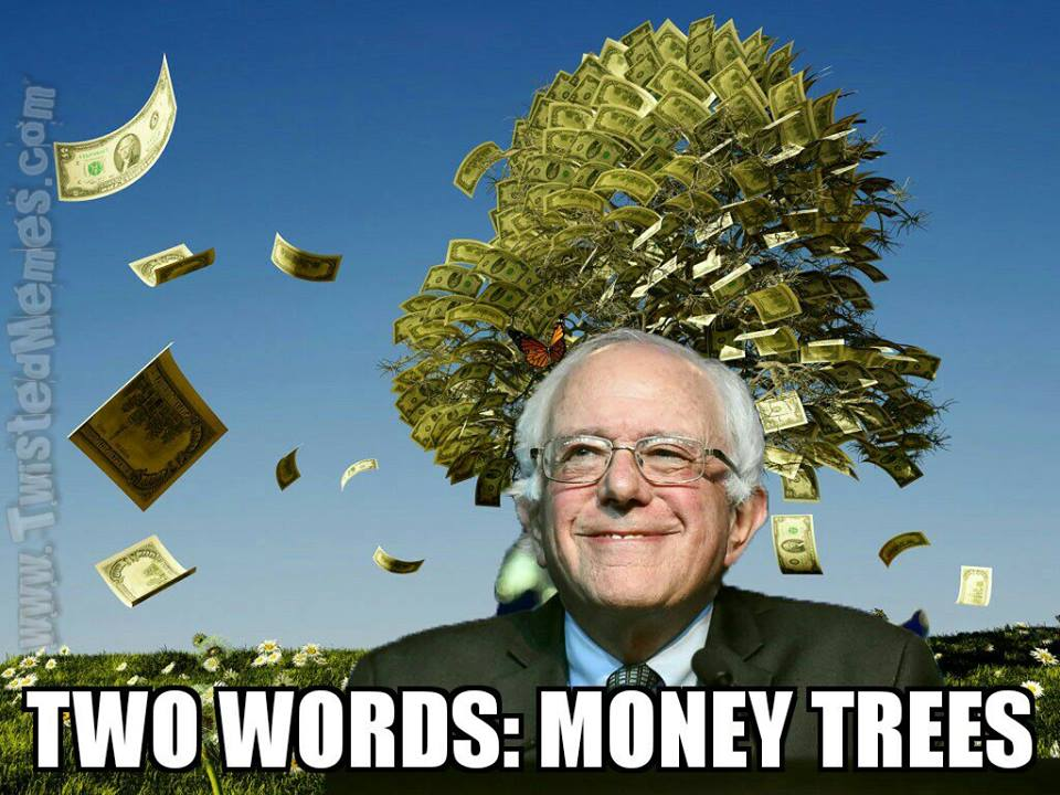 Bernie Sanders money trees