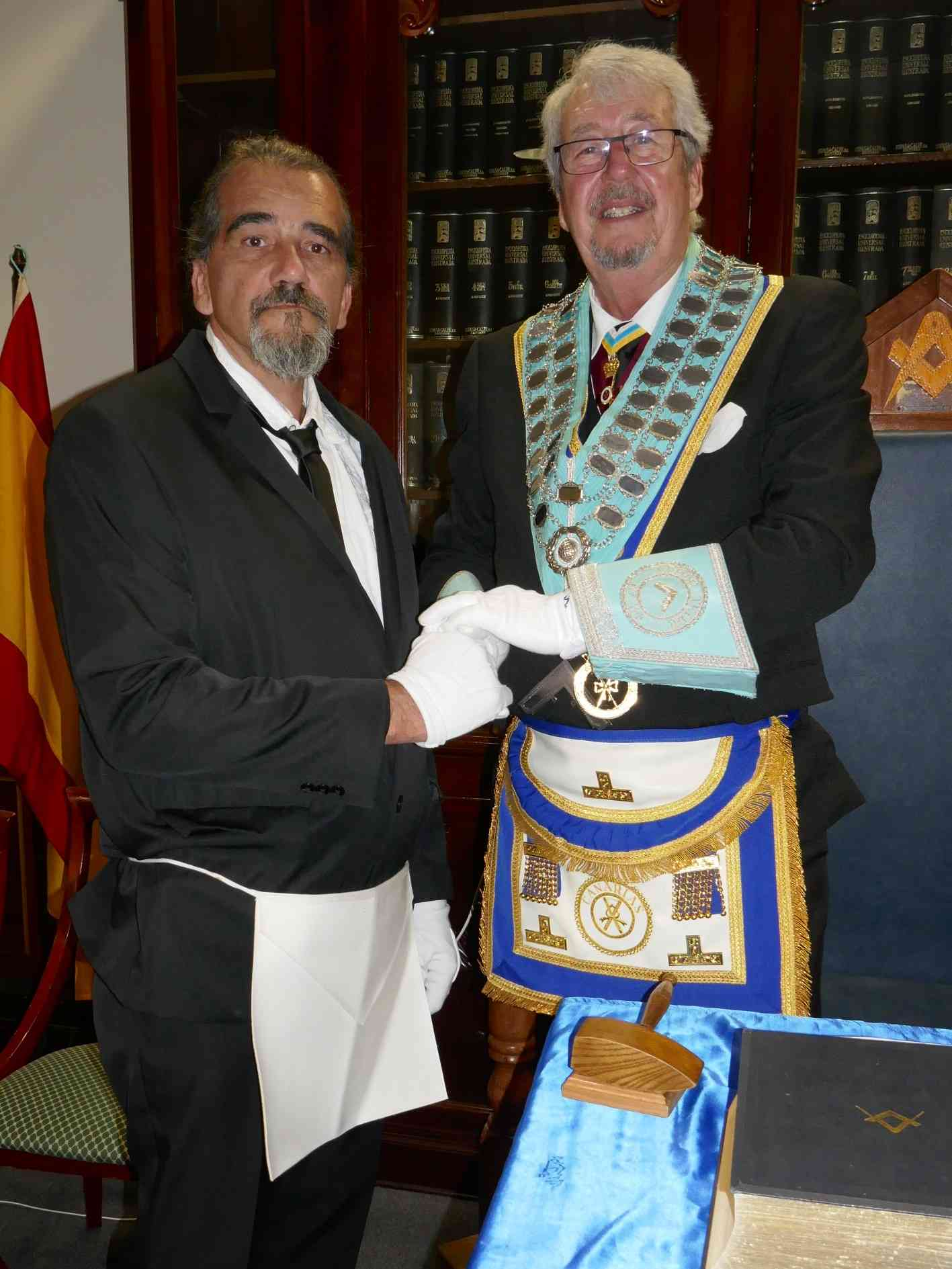 WM with newly initiated Roland Brunk