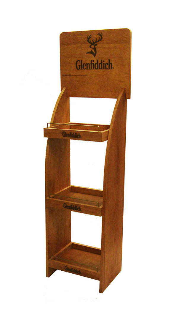 GLENFIDDICH 3 CASE WOODEN RACK