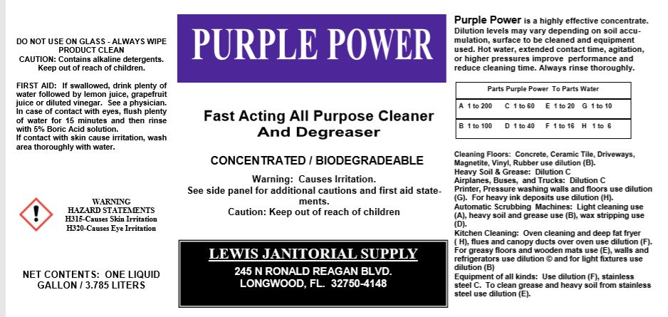 Purple Power Concentrated Degreaser/All Purpose Cleaner