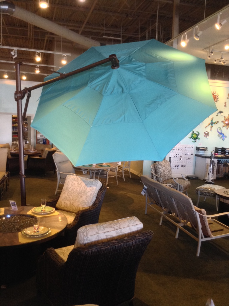 11ft Cantilever Aqua Umbrella with Optional Light