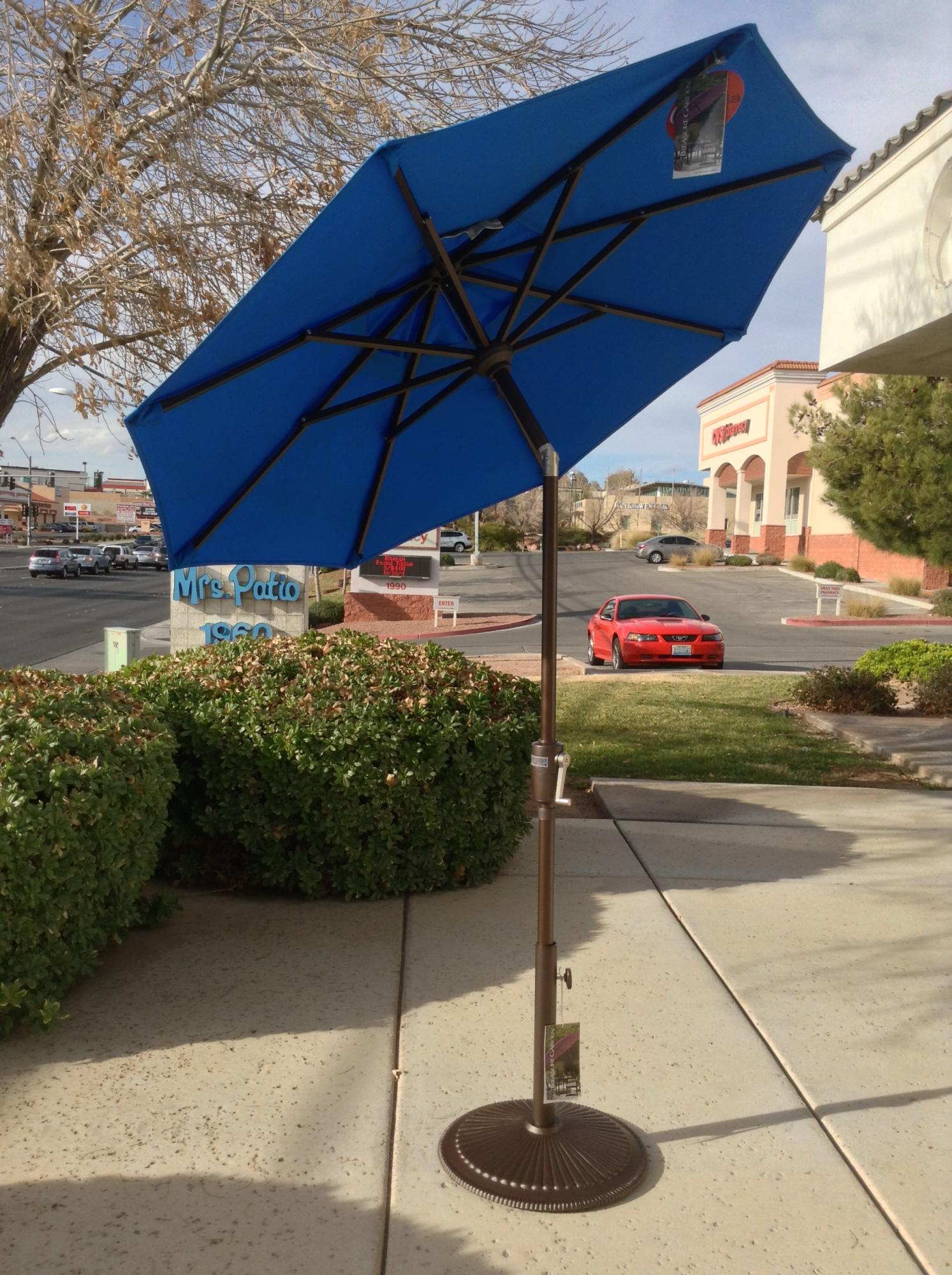 6 ft. Push Button Tilt Umbrella Cobalt ~ Multiple Colors Available
