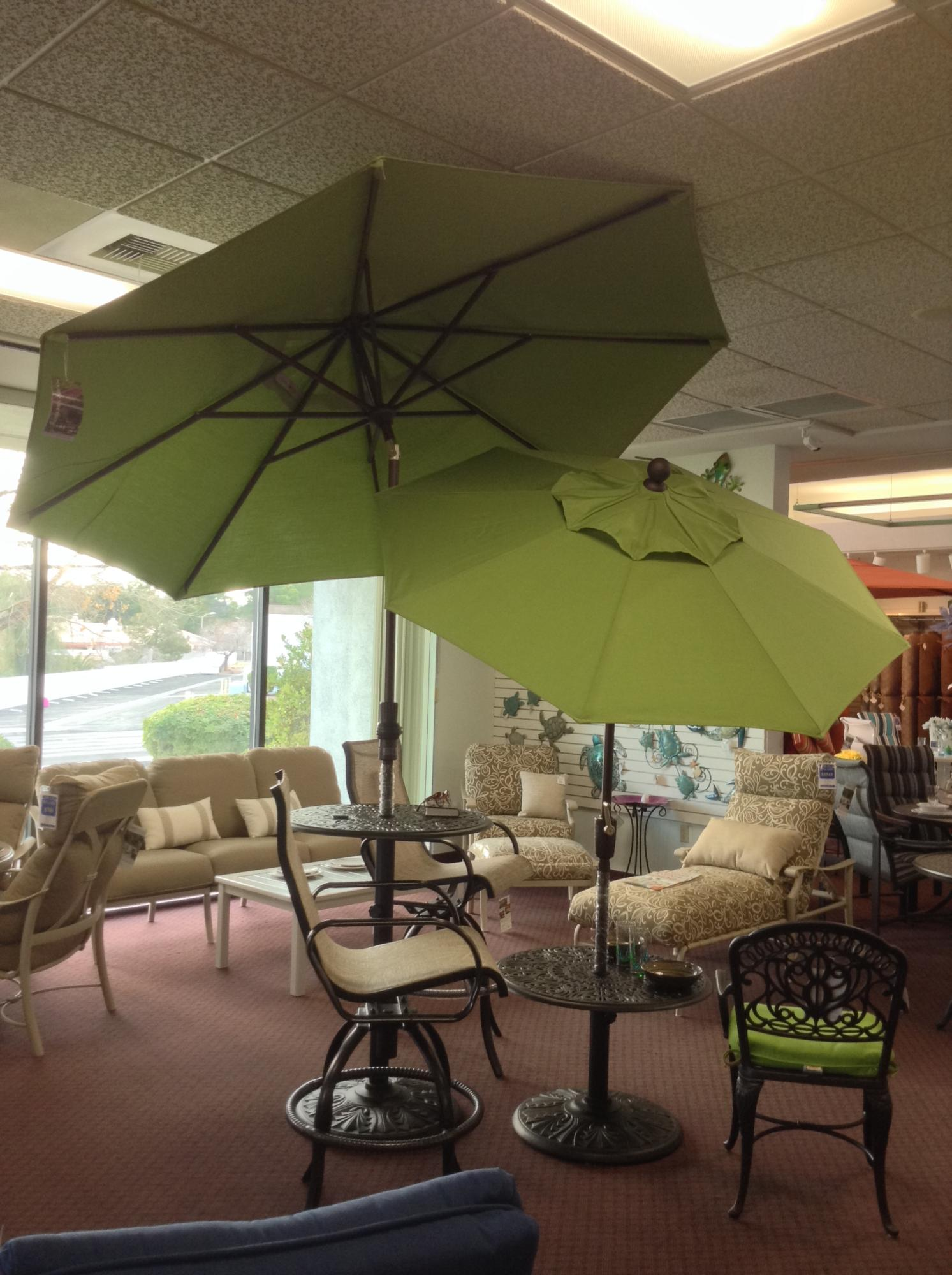 6 ft. Push Button Tilt Umbrella and 9 ft Collar Tilt Umbrella ~ Lime ~ Multiple Colors Available
