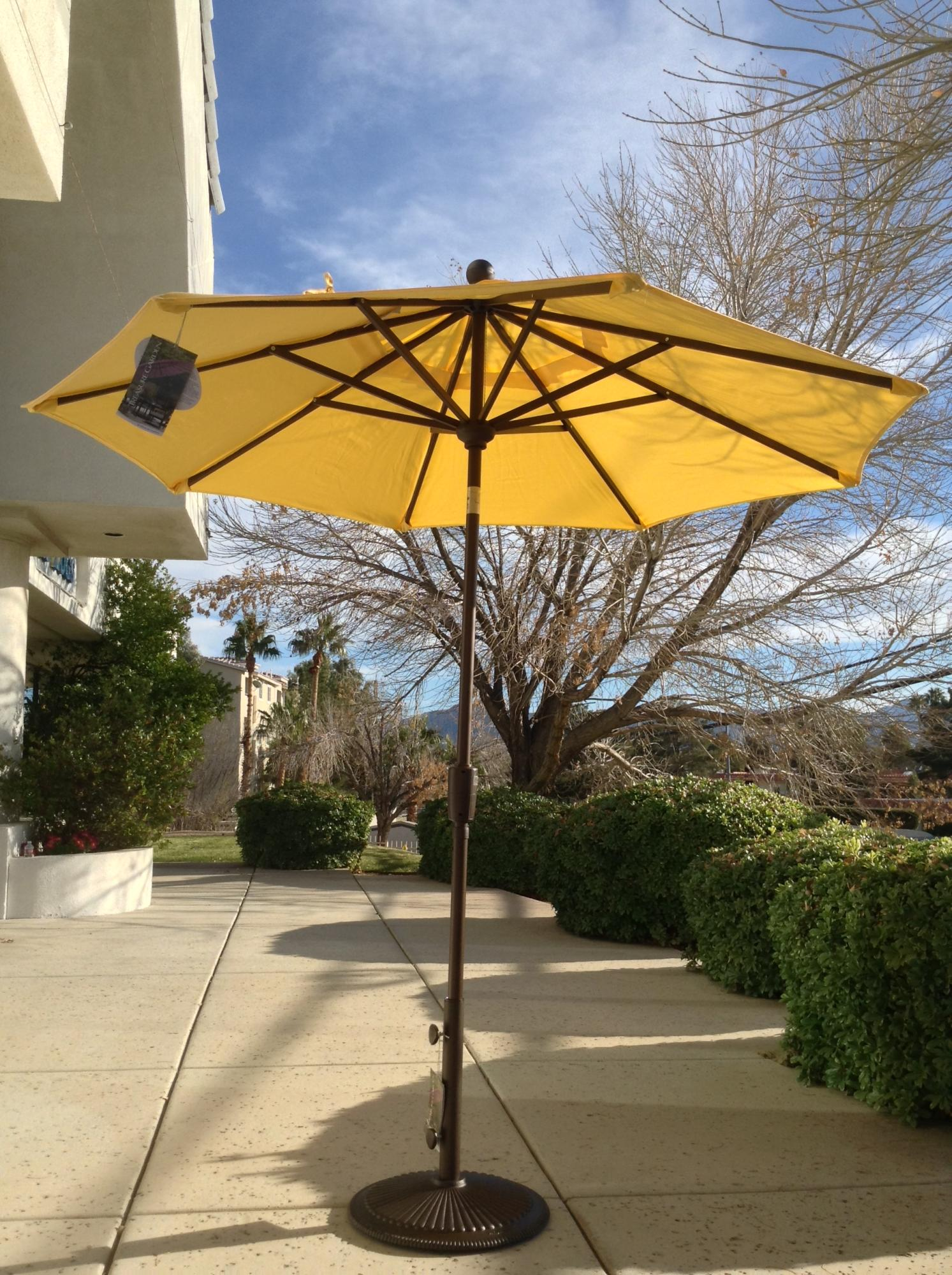 7.5 ft. Push Button Tilt Umbrella Lemon ~ Multiple Colors Available