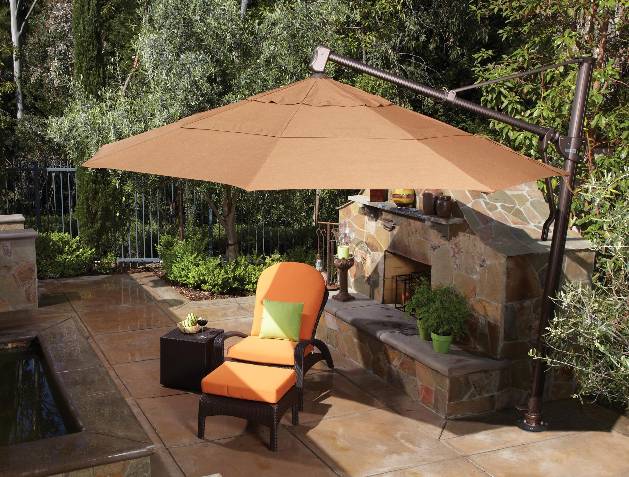 13 Ft. Cantilever Umbrella Shown with Concrete Mount Kit