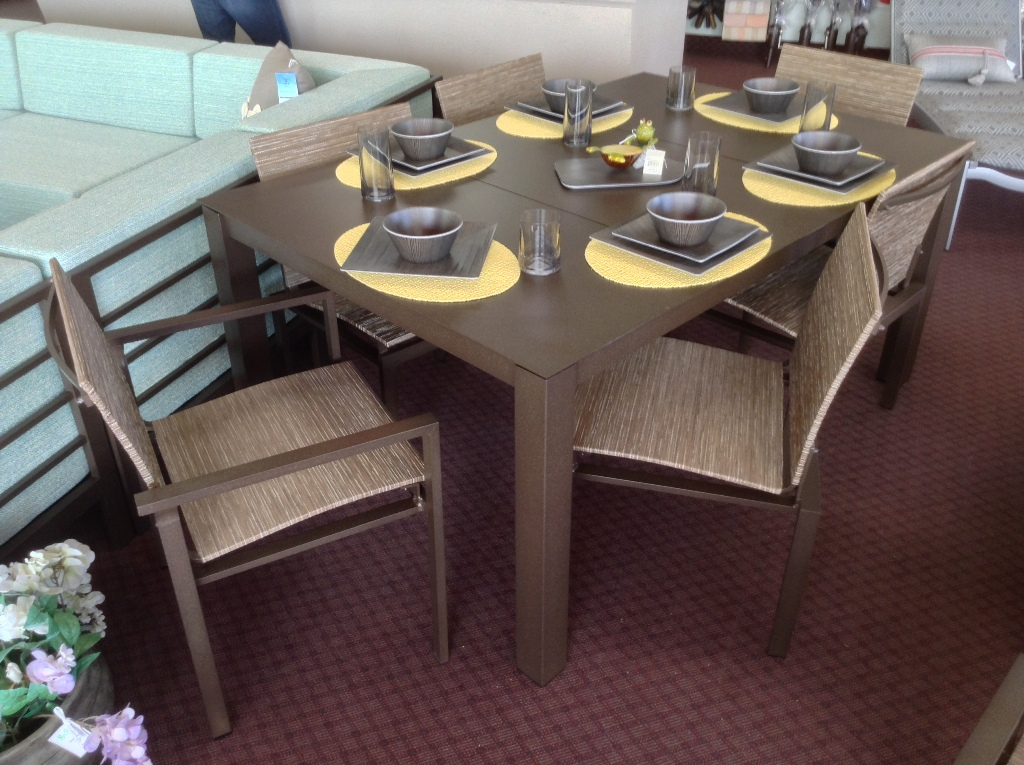 Allure Sling Cafe Chairs with Mode Dining Table