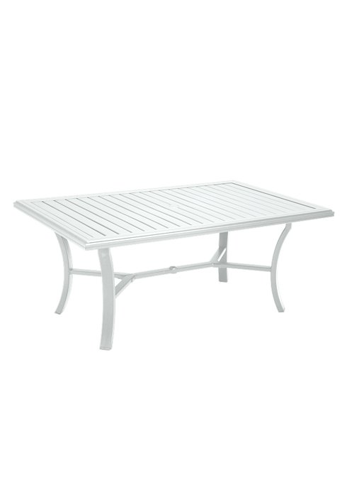 "Banchetto Dining Table W = 42"" L = 66"" White"