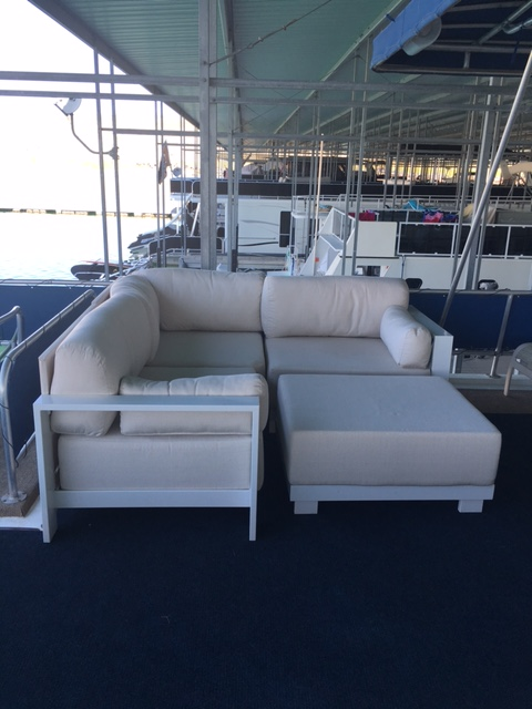 Beverly & Curt P. ~ House Boat on Lake Mead ~ Grace Sectional & Ottoman