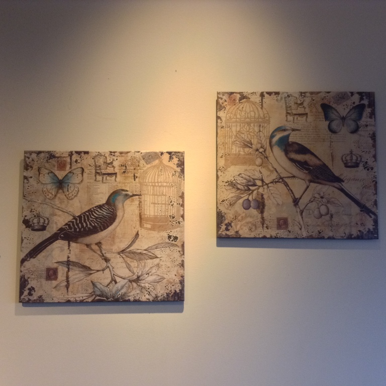 "Rustic Bird Wall Decor Set of Two W=23.5"" H=22"""