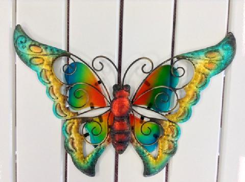 Butterfly Metal & Glass 9""