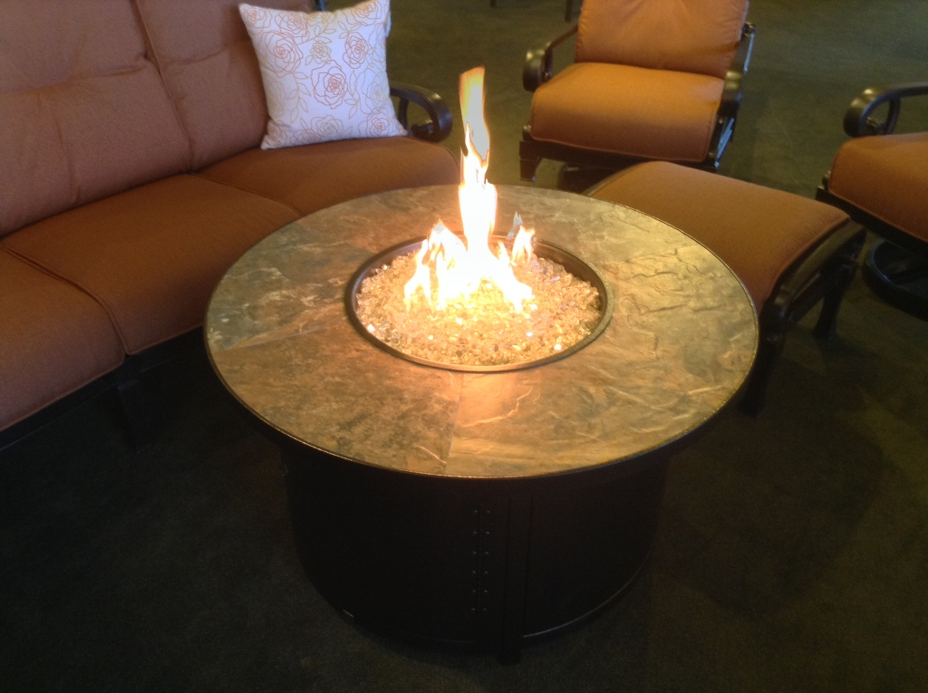 "Capri 42"" Rustic Slate Fire Table"