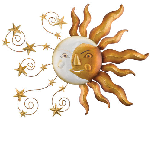 "Celestial Sun Wall Decor W = 33""  H = 26"""