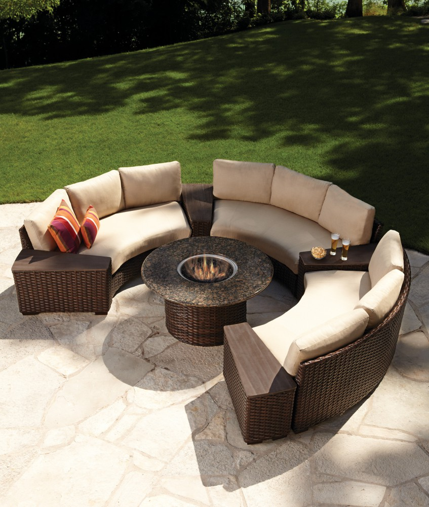 Contempo Curved Sectional W/Fire Table