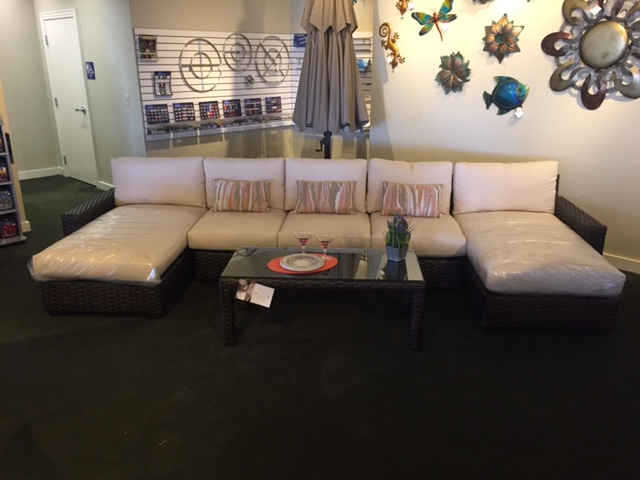 Contempo Sectional Shown w/Right Arm & Left Arm Chaise & Coffee Table