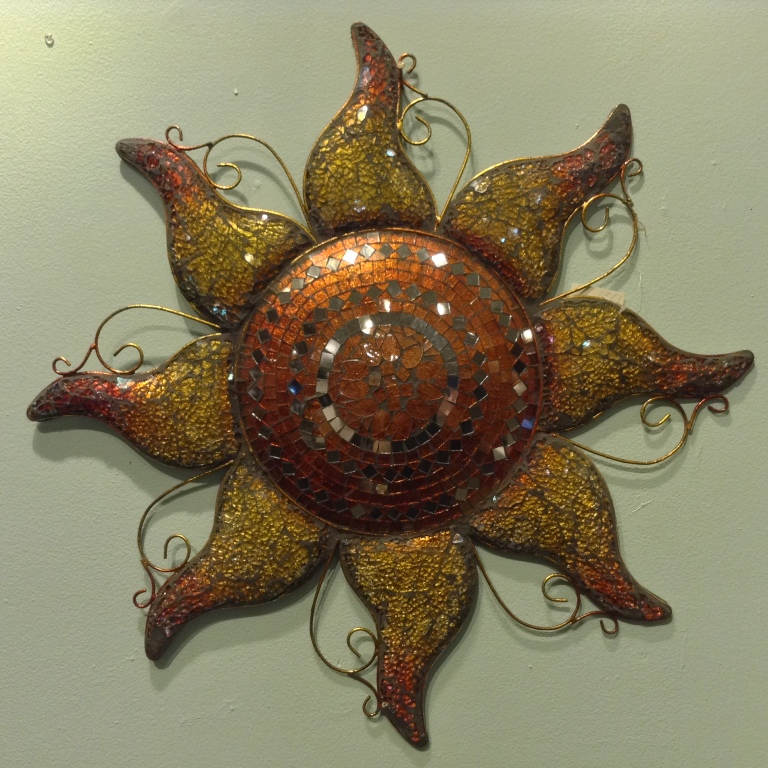 Copper Mosaic Sun D=24""