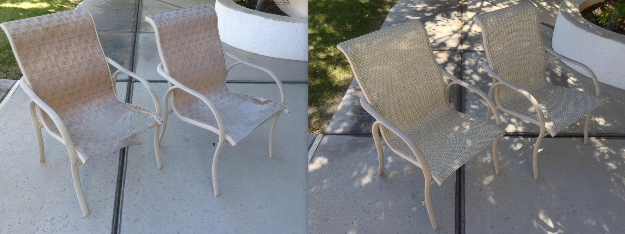 Dining Chair Sling Installation ~ Before & After