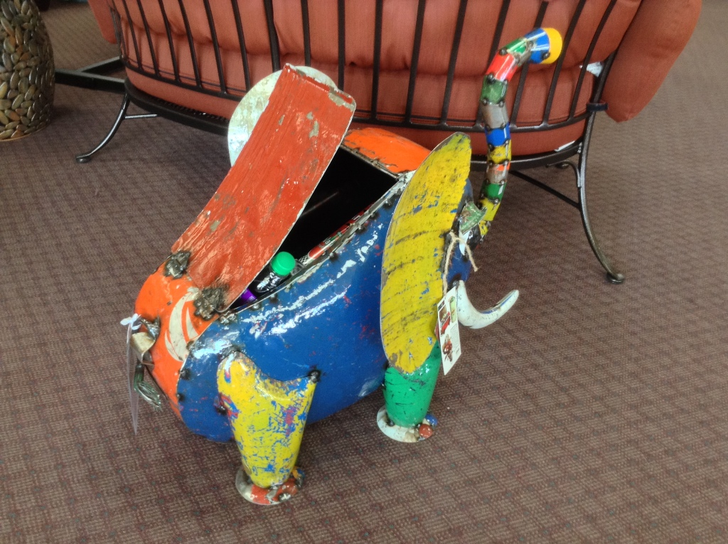 Elie The Elephant Cooler ~ Made From Recycled Oil Drums
