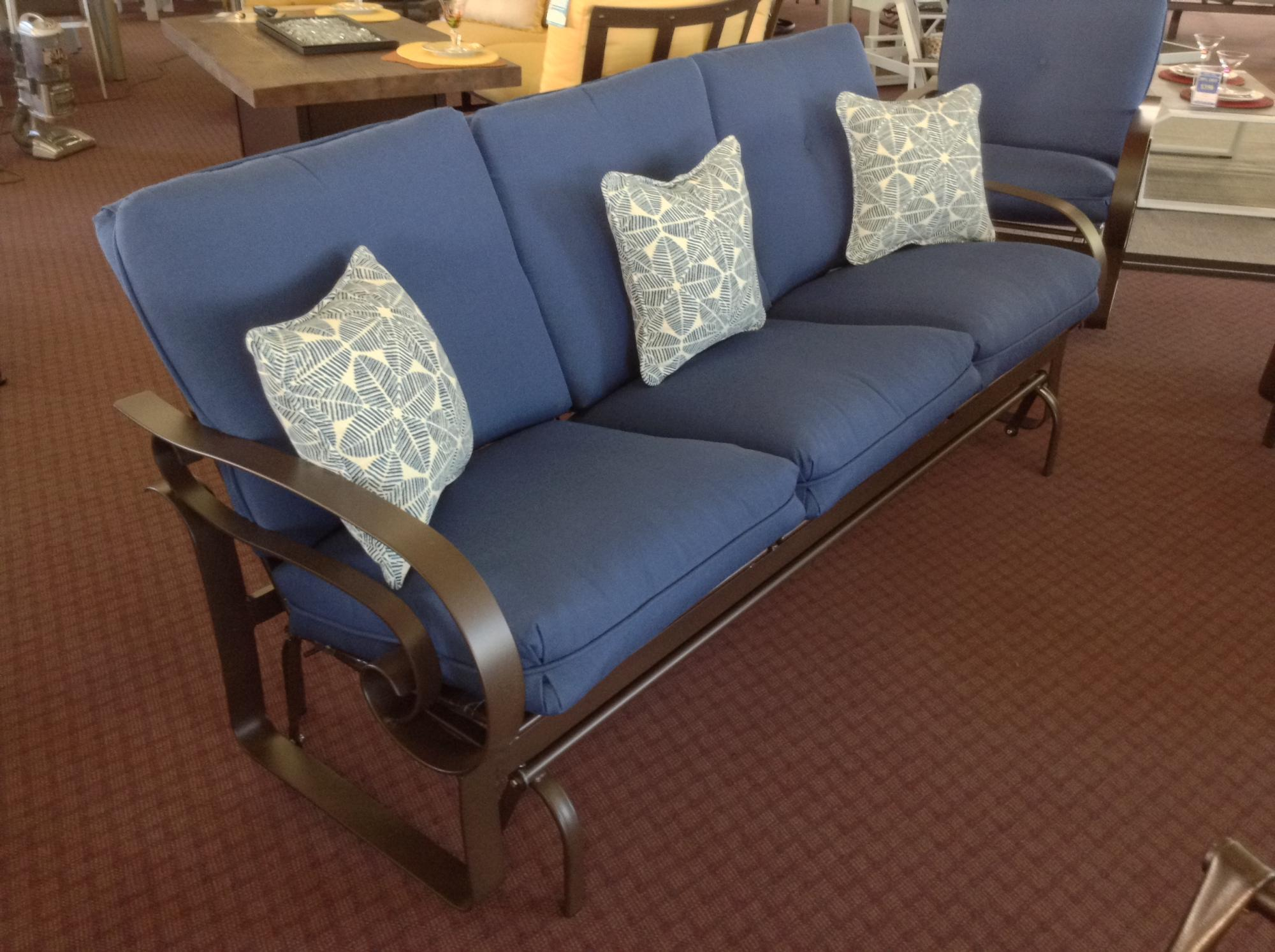 "Emory Low Back Sofa Glider W=79.5"" D=35"" H=35"" SH=19"" AH=25"""
