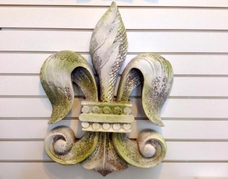 "Fleur De Lis Resin Wall Decor H = 23"" W = 18"""